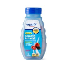 Equate Extra Strength Smooth Antacid Chewable Berry Tablets, 750 mg, 60 Ct