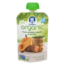 Gerber Organic 2nd Foods Baby Food, Sweet Potato, Squash & Pumpkin, 3.5 oz Pouch