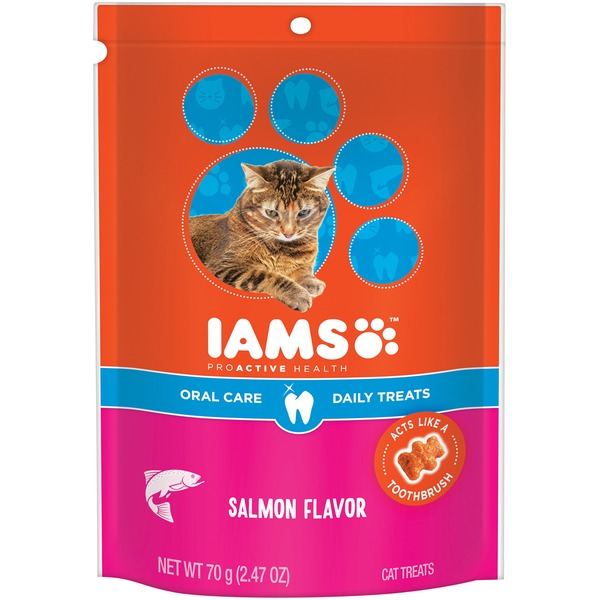 Iams ProActive Health Oral Care Salmon Flavor Cat Treats