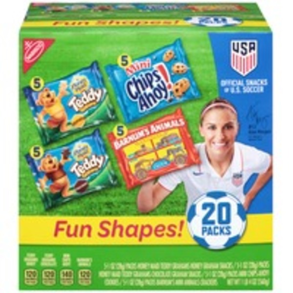 Nabisco Variety Pack Fun Shapes! Cookies & Crackers, 5 Varieties