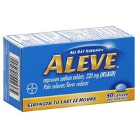 Aleve Naproxen Sodium 220mg Caplets Pain Reliever/Fever Reducer