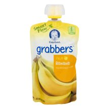 Gerber Grabbers Fruit Squeezable Puree, Banana, 4.23 oz Pouch