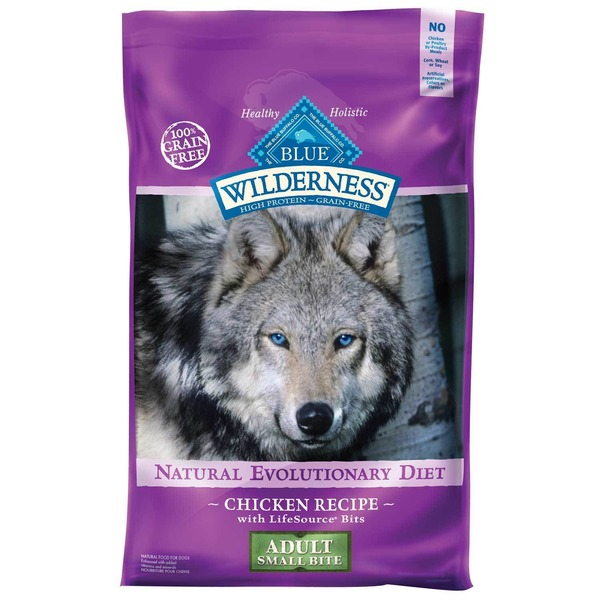 Blue Buffalo Dog Food, Dry, Chicken, Life Source Bits, Wilderness, Adult Small Bite, Bag