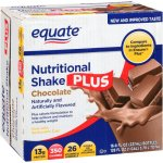 Equate chocolate nutritional shake plus, 8 Oz, 16 ct