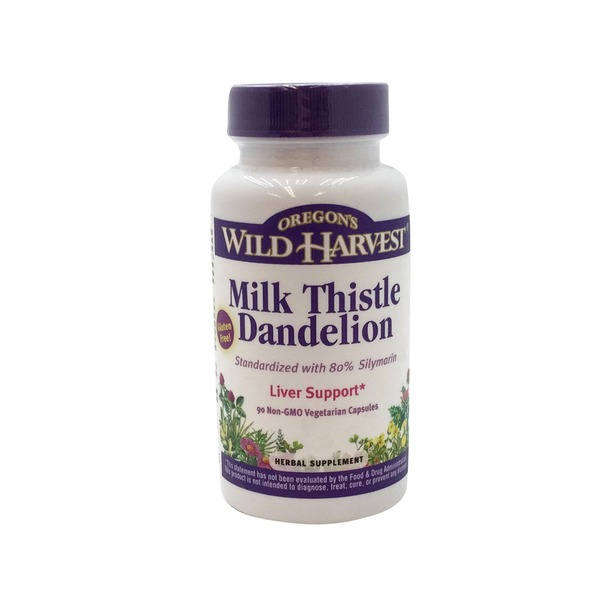 Oregon's Wild Harvest Milk Thistle Dandelion Liver Support