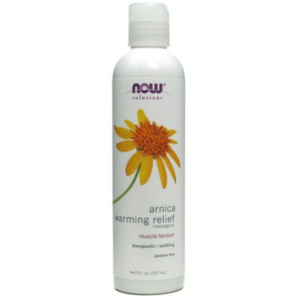 Now Arnica Muscle Tension Warming Relief Massage Oil
