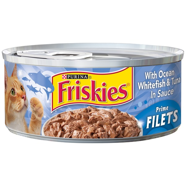Friskies Prime Filets with Ocean Whitefish & Tuna in Sauce Cat Food