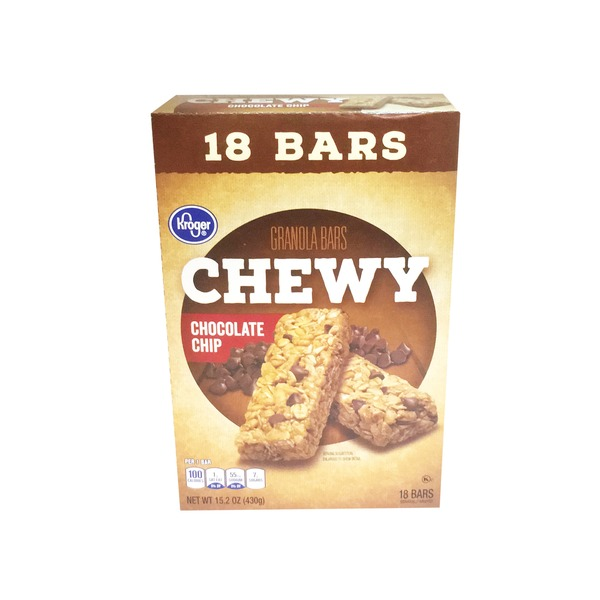 Kroger Chewy Chocolate Chip Granola Bars 18 Count