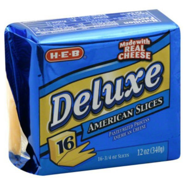 H-E-B Deluxe American Sliced Cheese