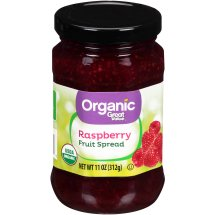 Great Value Organic Raspberry Fruit Spread, 11 oz