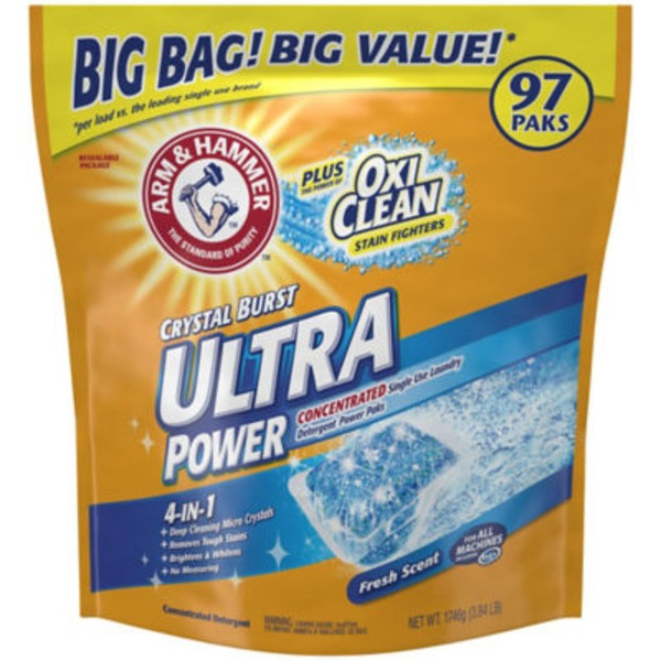 Arm & Hammer OxiClean Plus Stain Fighters CleanBurst 2-in-1 Power Paks Laundry Detergent