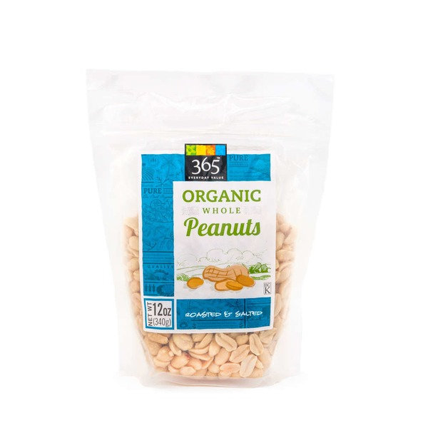 365 Organic Roasted Salted Peanuts