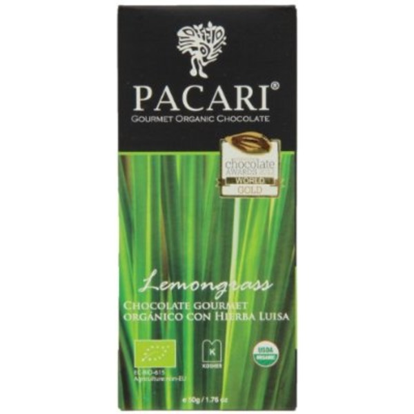 Pacari Lemongrass Chocolate Bar