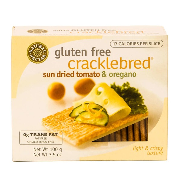 Natural Nectar Gluten Free Cracklebred Sun Dried Tomato & Oregano