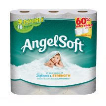 Angel Soft Toilet Paper, 9 Double Rolls