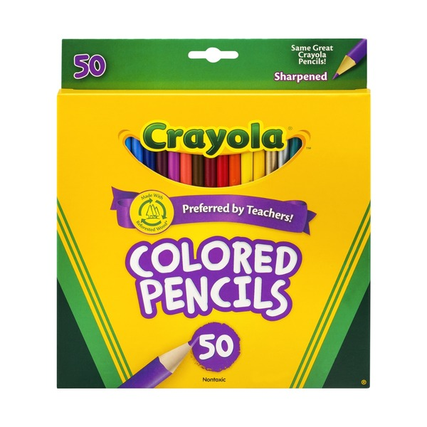 Crayola Colored Pencils Sharpened - 50 CT