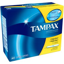 Tampax Tampons with Cardboard Applicator, Regular, Unscented, 40 Ct