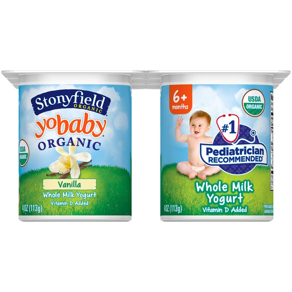 Stonyfield Organic Organic Yobaby Vanilla with Probiotics Whole Milk Yogurt