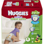 Huggies Little Movers Slip-On Diapers Size 4
