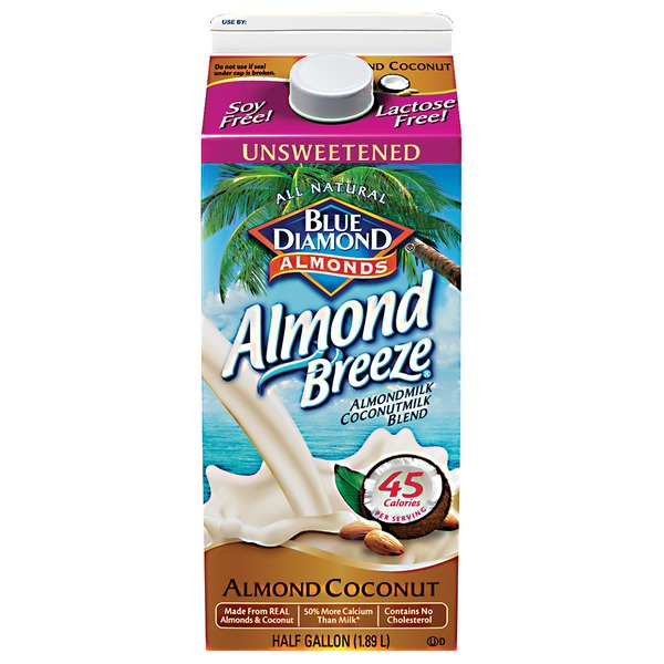 Blue Diamond Almond Breeze Unsweetened Almond Coconut Almondmilk Non Dairy Milk Alternative