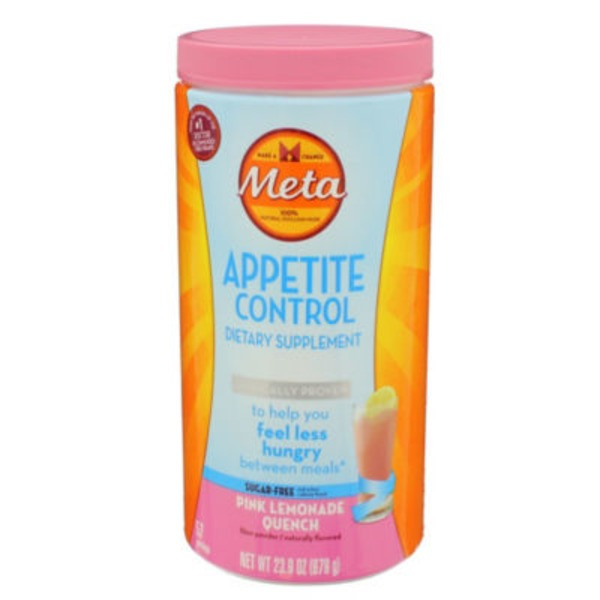 Meta Biotic Appetite Control Meta Appetite Control Dietary Supplement, Sugar-Free Pink Lemonade Quench, 57 servings Laxative