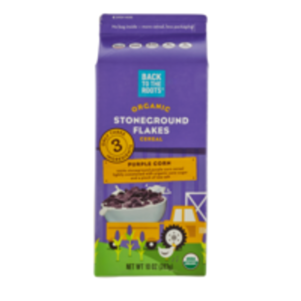 Back to the Roots Organic Stoneground Flakes Purple Corn Cereal