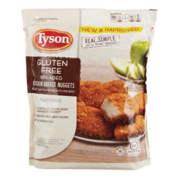 Tyson   Frozen Breaded Gluten Free Breaded Chicken Breast Nuggets