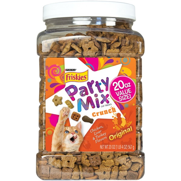 Friskies Treats Party Mix Crunch Original Cat Treats