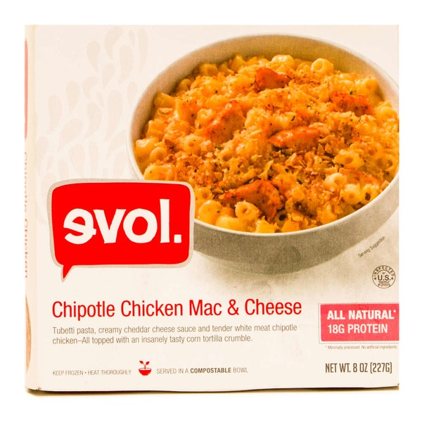 Evol Foods Chipotle Chicken Mac & Cheese