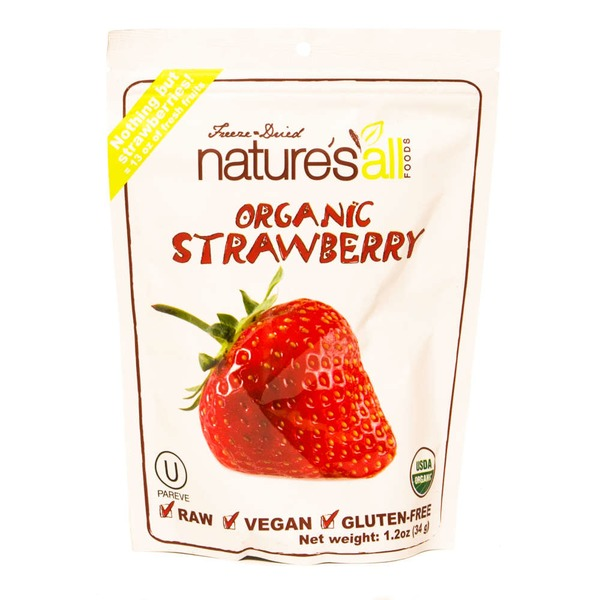 Nature's All Foods Natierra Freeze-Dried Nature's All Foods Organic Strawberry
