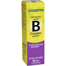 Spring Valley B Complex with B12 Sublingual Liquid, 59 Ct, 2 Oz