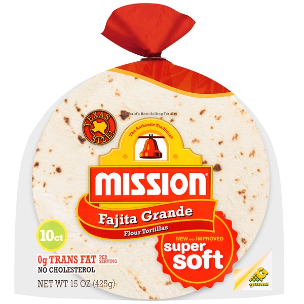Mission Flour Fajita Grande 10 ct Tortillas