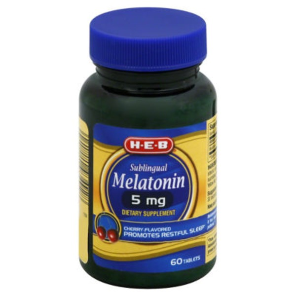 H-E-B Sublingual Melatonin 5 mg
