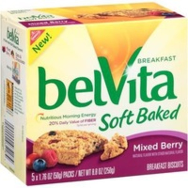 Nabisco Belvita Bites Mixed Berry Mini Breakfast Biscuits