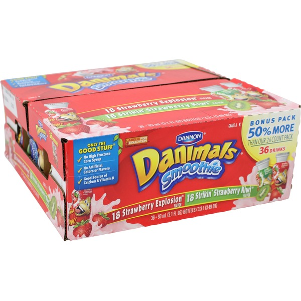 Danimals Strawberry Explosion/Swinging Strawberry Banana Smoothies