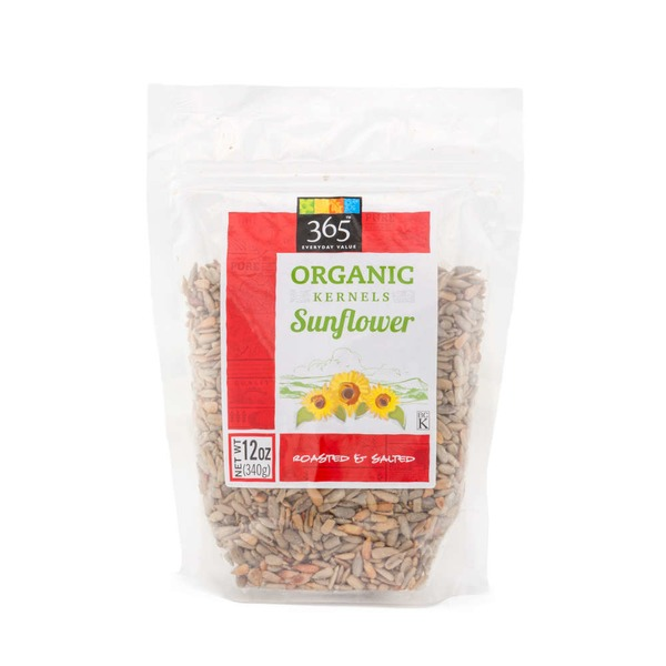 365 Organic Roasted Salted Sunflower Kernels