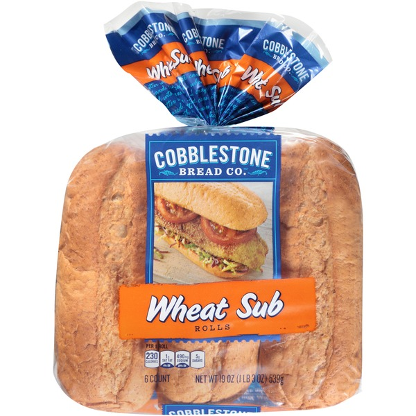 Cobblestone Mill Wheat  Sub Rolls