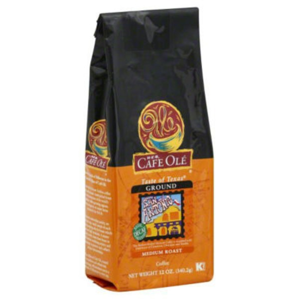 H-E-B Cafe Olé Taste Of San Antonio Decaf Medium Roast Ground Coffee