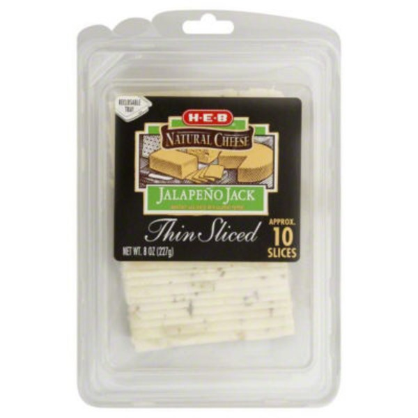 H-E-B Thin Sliced Jalapeño Jack Cheese