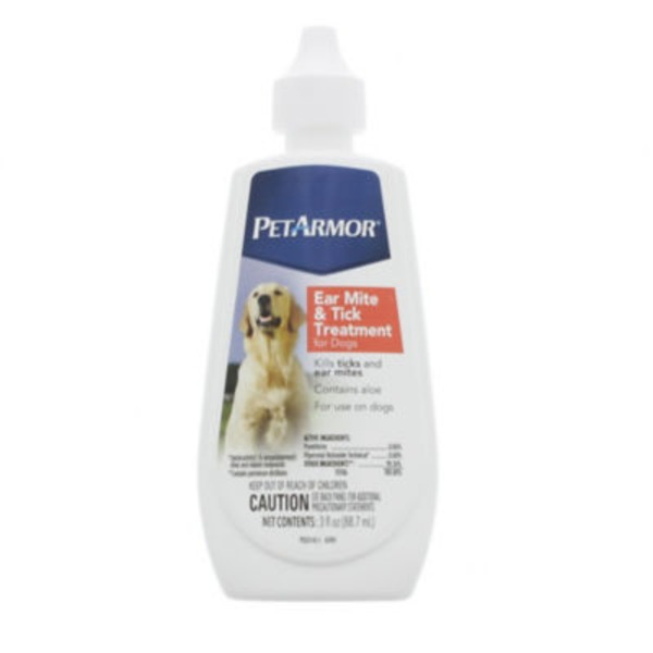 Petarmor Ear Mite & Tick Treatment, for Dogs