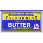 Falfurrias Unsalted Butter Four Quarters, 1 lb