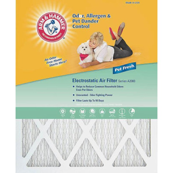 Arm & Hammer 20 X 24  X 1 Pet Fresh Pet Protection Air Filter