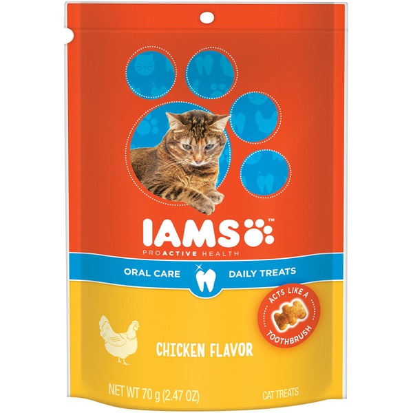Iams ProActive Health Oral Care Chicken Flavor Cat Treats
