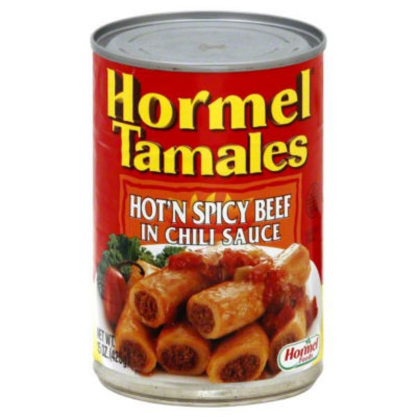 Hormel Hot'n Spicy Beef In Chili Sauce Tamales