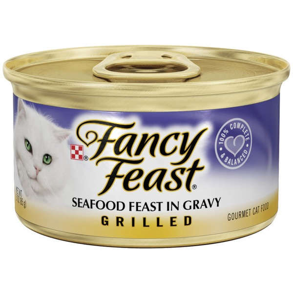 Fancy Feast Wet Grilled Seafood Feast in Gravy Cat Food