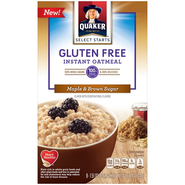 Quaker Oatmeal Select Starts Gluten Free Maple & Brown Sugar Instant Oatmeal