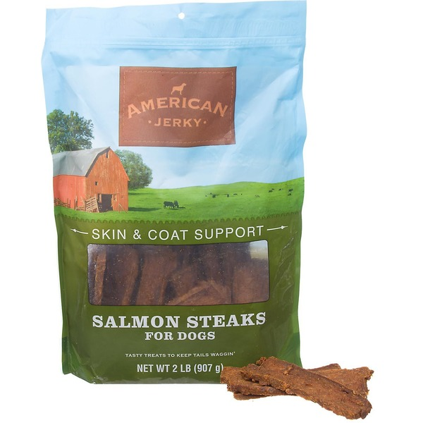 American Jerky Skin and Coat Support Salmon Steaks for Dogs