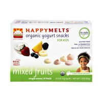 HappyBaby HappyMelts Kids Mixed Fruits Organic Yogurt Snacks - 6 PK
