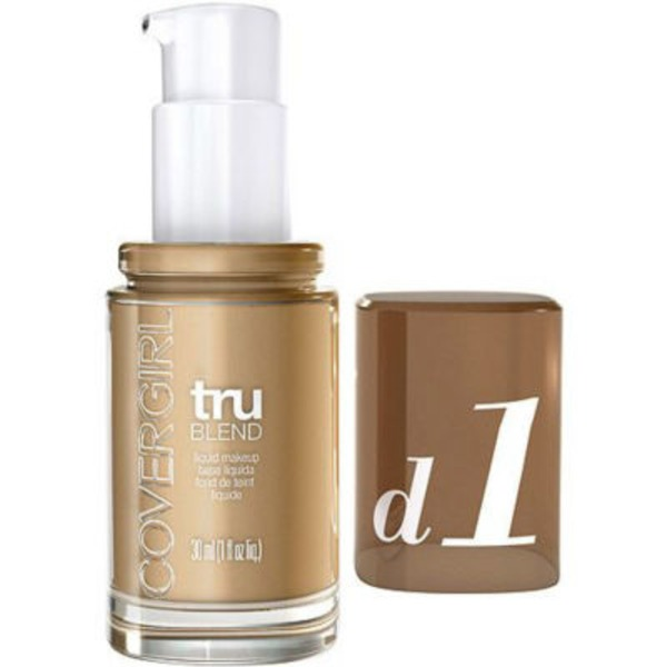 CoverGirl TruBlend COVERGIRL truBlend Liquid Foundation Makeup Creamy Beige, 1 fl oz (30 ml) Female Cosmetics