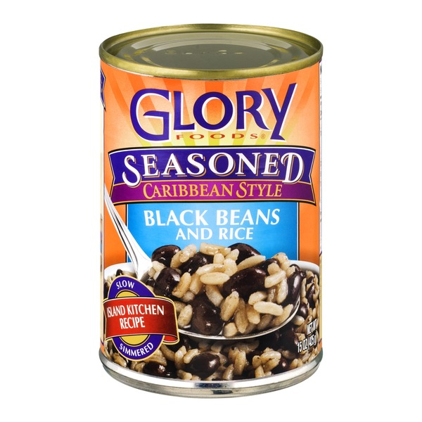 Glory Foods Seasoned Caribbean Style Black Beans and Rice